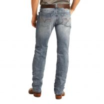 Rock and Roll Mens Vintage Slim Straight Jeans