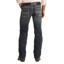 Rock and Roll Mens Pistol Western Boot Cut Jeans