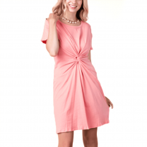 Vocal Womens Front Tie Coral Dress