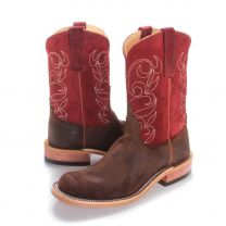BootDaddy with Anderson Bean Mens Red Suede Kudu Cowboy Boots