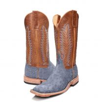 BootDaddy Anderson Bean Mens Blue FQ Ostrich Boots