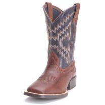Ariat Children Boys Tycoon Cowboy Boots Brazen Brown