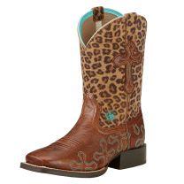 Ariat Children Girls Cheetah Cowboy Boots 10017311