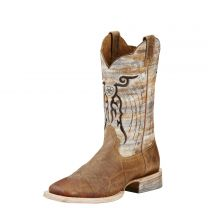 Ariat Mens Mesteno Wide Square Toe Cowboy Boots Dust Devil Tan