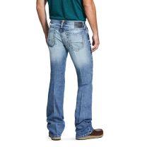 Ariat Mens M7 Light Wash Stretch Slim Straight Jeans