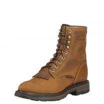 Ariat Mens WorkHog Round Toe Lace Up Work Boots Aged Bark
