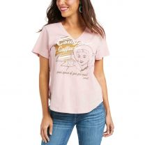 Ariat Womens Vintage Cowgirl Coffee T Shirt