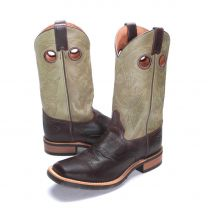 BootDaddy with Double H Mens Dark Brown Cowboy Boots