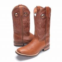 BootDaddy with Double H Mens Vintage Tan Cowboy Boots