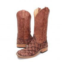 BootDaddy Anderson Bean Mens Embossed Big Bass Boots