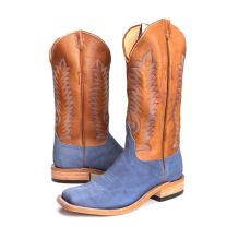 BootDaddy Anderson Bean Mens Sueded Blue Elephant Boots