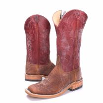 BootDaddy Anderson Bean Mens Tumbled Bison Cowboy Boots