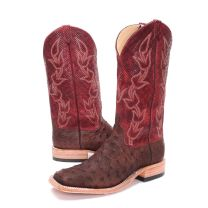 BootDaddy Anderson Bean Mens Chex Full Quill Ostrich Boots