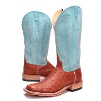 BootDaddy Anderson Bean Mens Turquoise FQ Ostrich Boots