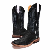 BootDaddy Anderson Bean Mens Onyx FQ Ostrich Boots
