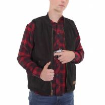 BootDaddy Ranch Mens Black Canvas Concealed Carry Vest