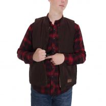 BootDaddy Ranch Mens Brown Canvas Concealed Carry Vest