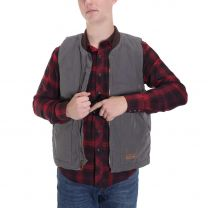 BootDaddy Ranch Mens Gray Canvas Concealed Carry Vest