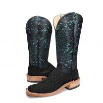 BootDaddy Anderson Bean Womens Midnight FQ Ostrich Boots