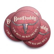 BootDaddy Set of 4 Longhorn Thirstystone Coasters