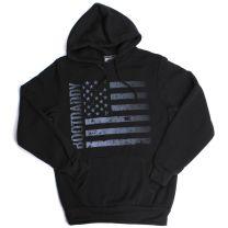 BootDaddy Unisex Stars and Stripes Flag Hoodie Black