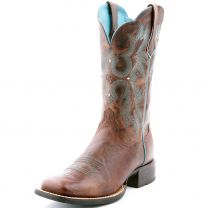 Ariat Tombstone Cross Cowboy Boots Brown
