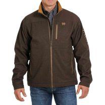 Cinch Mens Printed Brown Concealed Carry Jacket