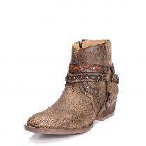Circle G Womens Studded Harness Ankle Boots Q0094