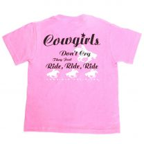 Cowgirls Unlimited Girls Youth Ride Short Sleeve Shirt Sangria