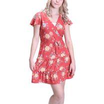 Derek Heart Womens Faux Wrap Dress Multiple Colors