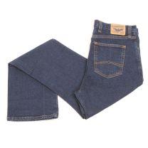 Diamond Gusset Mens Country Diner Slim Fit Jeans Dark Blue
