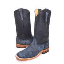 BootDaddy Fenoglio Mens Blue Buffalo Cowboy Boots