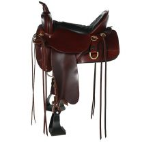 """High Horse by Circle Y Big Springs Trail Saddle (17"""", Wide Tree)"""