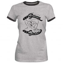 Hooey Womens Waymore Pistol Cowgirl T Shirt Gray