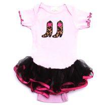 Baby Korral Girls Ruffled Onesies Pink
