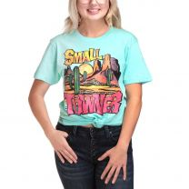 Womens Turquoise Small Towner T Shirt