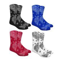 Leaf Republic Unisex One Size Bandana Boot Socks
