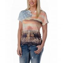 Liberty Wear Womens Country Life Sublimation Tee