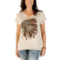 Liberty Wear Womens Indian Chief Headdress Shirt