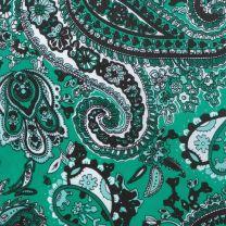 Western Emerald Green Paisley Silk Wild Rag