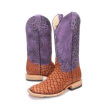 BootDaddy Macie Bean Womens Purple Lochness Cowboy Boots