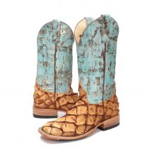 BootDaddy Macie Bean Womens Turquoise Big Bass Boots