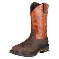 Ariat Mens Steel Toe WorkHog Work Boots Brick