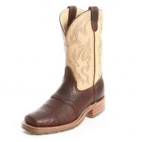 Double H Square Toe Ice Briar Bison Cowboy Boots Brown