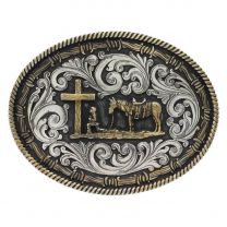 Montana Silversmiths Attitude Barbwire Praying Cowboy