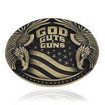 Montana Silversmiths Attitude God Guts and Guns Buckle