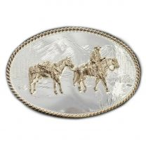 Montana Silversmiths Pack Horse and Rider Buckles