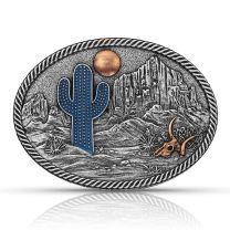 Montana Silversmiths Attitude Desert Moon Cactus Buckle