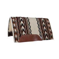 Arrowhead Fleece Bottom Saddle Pad (Brown/Cream)