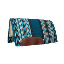 Arrowhead Fleece Bottom Saddle Pad (Turquoise/Brown)